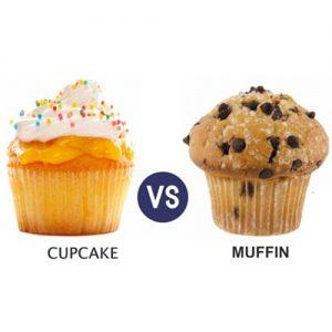 عکس تفاوت مافین و کاپ کیک