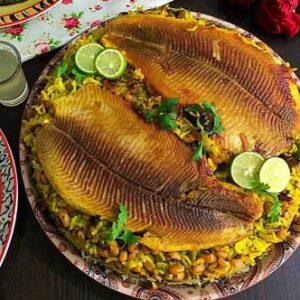 طرز تهیه سبزی پلو با ماهی مجلسی و خوش طعم