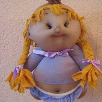 عکس عروسک با جوراب