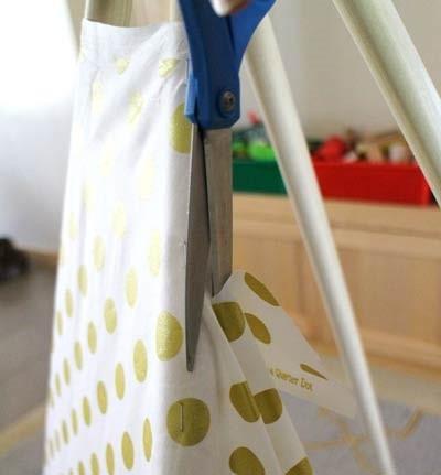 عکس آموزش ساخت چادر سرخپوستی کودک