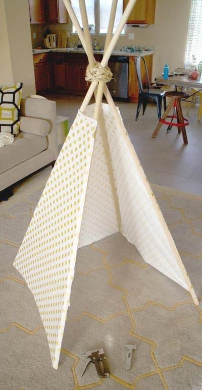 آموزش ساخت چادر سرخپوستی کودک
