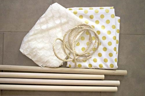 عکس وسایل لازم برای ساخت چادر بازی کودک