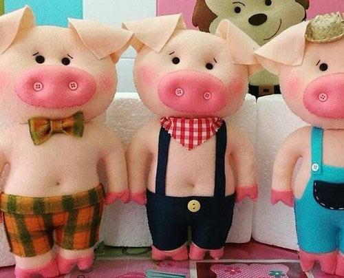 عکس مدل گیفت خوک نمدی