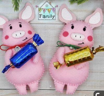 عکس مدل خوک نمدی برای عید