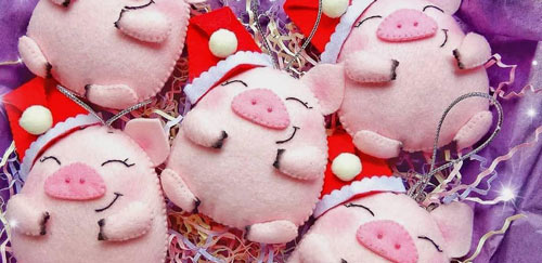 عکس مدل خوک نمدی نشسته