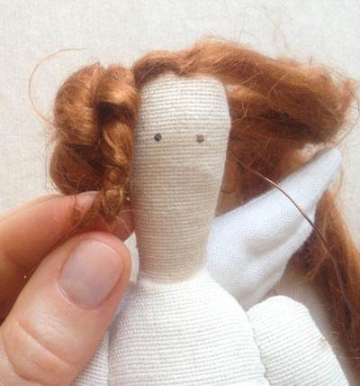 عکس تزیین موی عروسک روسی تیلدا