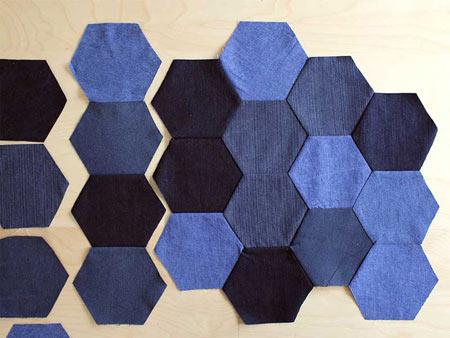 عکس دوخت قطعات شش ضلعی