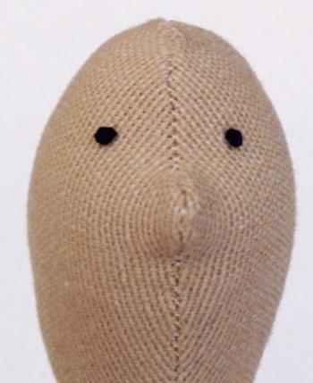 عکس دوخت چشم عروسک تیلدای روسی