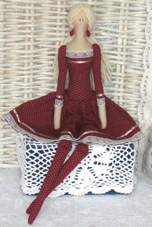 عکس عروسک تیلدای روسی با لباس