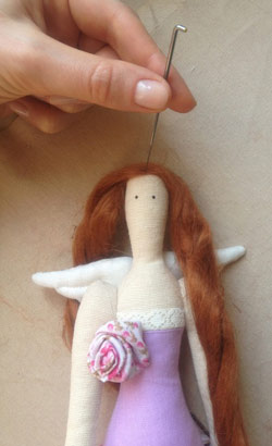 عکس موی عروسک و سوزن کچه