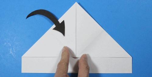 عکس آموزش ساخت موشک کاغذی خفاشی