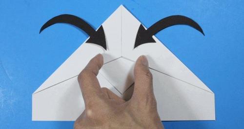 عکس اموزش ساخت موشک کاغذی تصویری