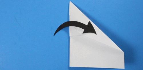 عکس آموزش ساخت موشک کاغذی بلند پرواز