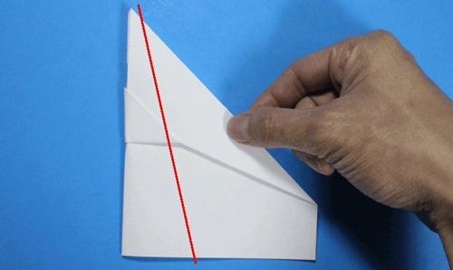عکس آموزش ساخت موشک با کاغذ