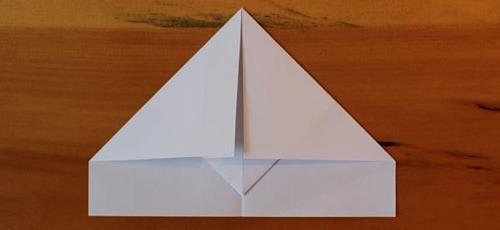 عکس آموزش ساخت موشک کاغذی معمولی