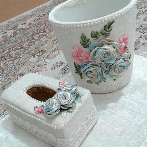 عکس سطل و جعبه دستمال کاغذی