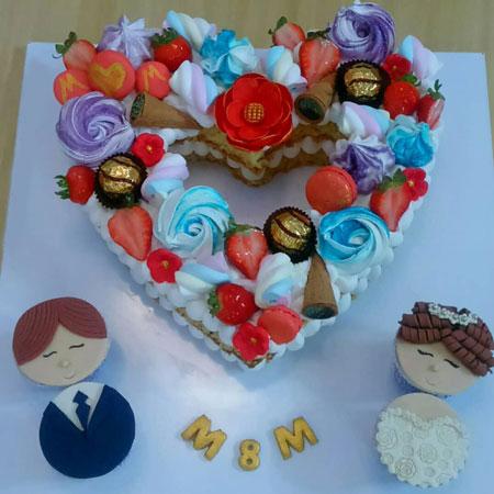 عکس کیک یخچال عروس