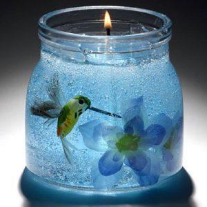 عکس ساخت شمع ژله ای حباب دار و بدون حباب