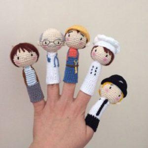 عکس عروسک انگشتی خانواده