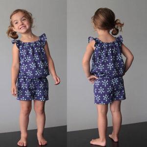 عکس آموزش دوخت رامپر دخترانه با الگو
