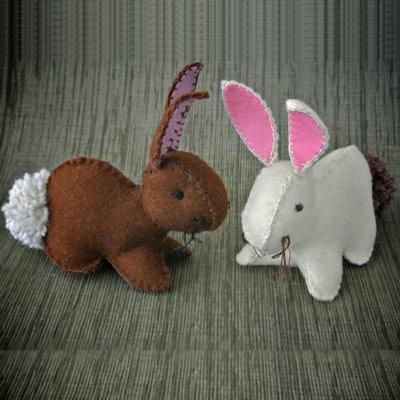 عکس آموزش ساخت عروسک نمدی خرگوش