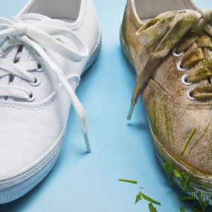 عکس تمیز کردن کفش