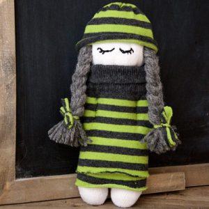عکس آموزش عروسک با جوراب