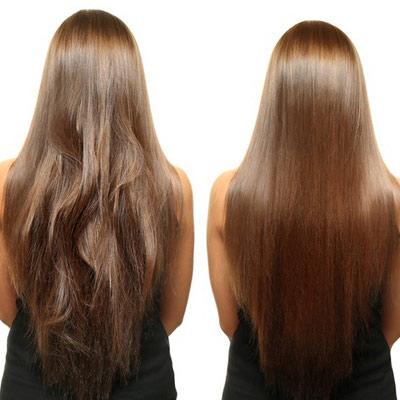 عکس آموزش کراتینه مو زنانه
