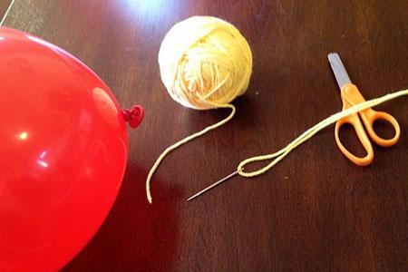 عکس آموزش بادکنک آرایی ساده برای تولد