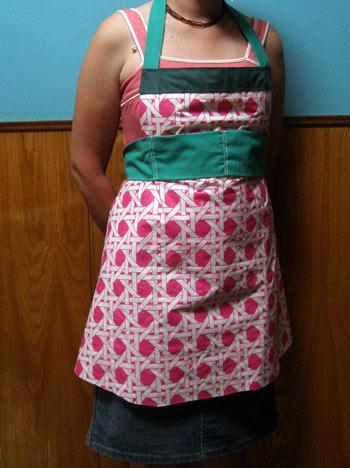 عکس آموزش دوخت پیش بند آشپزخانه با الگو