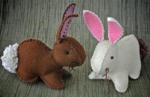 عکس ساخت عروسک نمدی خرگوش