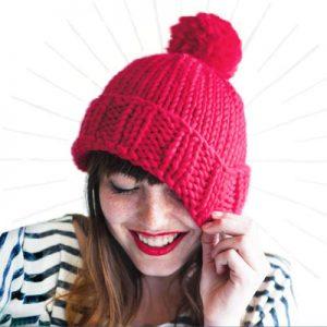 عکس آموزش بافت کلاه با کاموای ضخیم