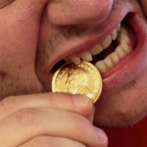 عکس تشخیص طلا با سرکه سیب