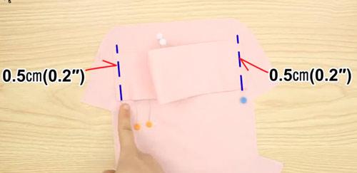 عکس آموزش دوخت کیف پارچه ای لوازم آرایشی