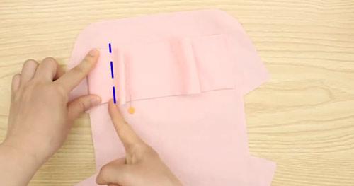 عکس آموزش دوخت کیف پارچه ای لوازم آرایش