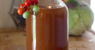 عکس طرز تهیه سرکه گوجه فرنگی