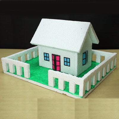 عکس آموزش ساخت ماکت خانه با فوم