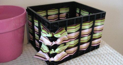 عکس تزیین سبد پلاستیکی میوه
