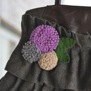 عکس آموزش ساخت گل نمدی