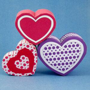 عکس آموزش ساخت جعبه کادو قلب