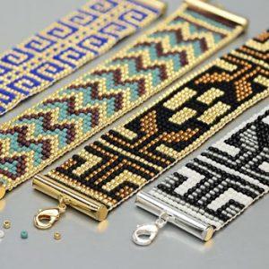 عکس آموزش ساخت دستبند با منجوق