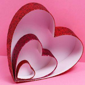 عکس الگوی جعبه کادویی قلبی