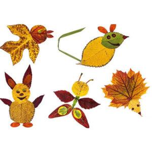 عکس کاردستی با برگ درختان پاییزی