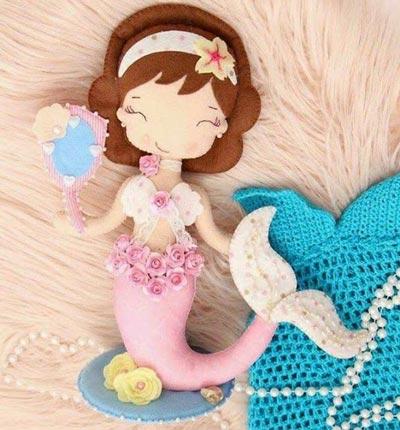 عکس عروسک نمدی پری دریایی