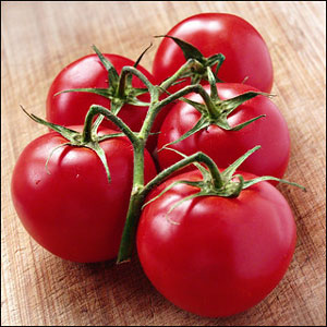 عکس علت رنگ قرمز گوجه فرنگی