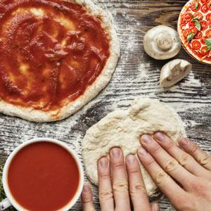 عکس طرز تهیه خمیر پیتزا بدون خمیر مایه