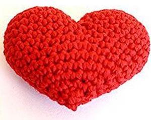 عکس قلب بافتنی قرمز