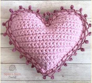 آموزش بافتن قلب با قلاب بافی
