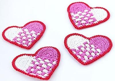 آموزش بافت قلب های تزیینی با قلاب