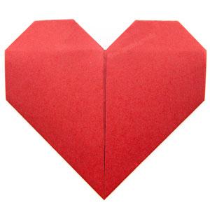 عکس آموزش اوریگامی قلب